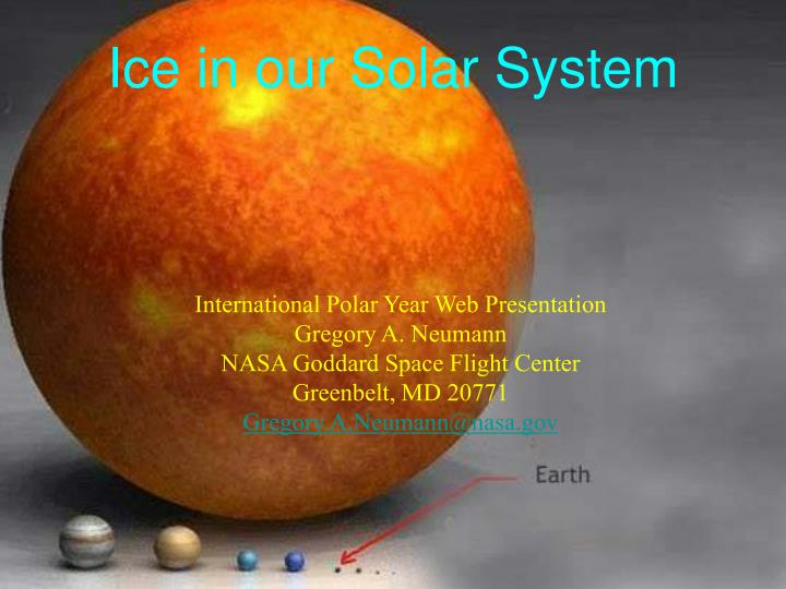 ice in our solar system n.
