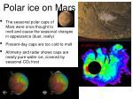 polar ice on mars