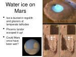 water ice on mars