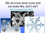 we all know what snow and ice looks like don t we