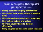 from a couples therapist s perspective