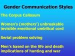 gender communication styles