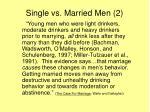 single vs married men 2