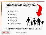 affecting the safety of