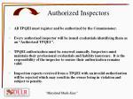 authorized inspectors