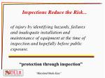 inspections reduce the risk