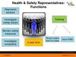 health safety representatives functions