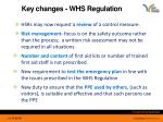 key changes whs regulation