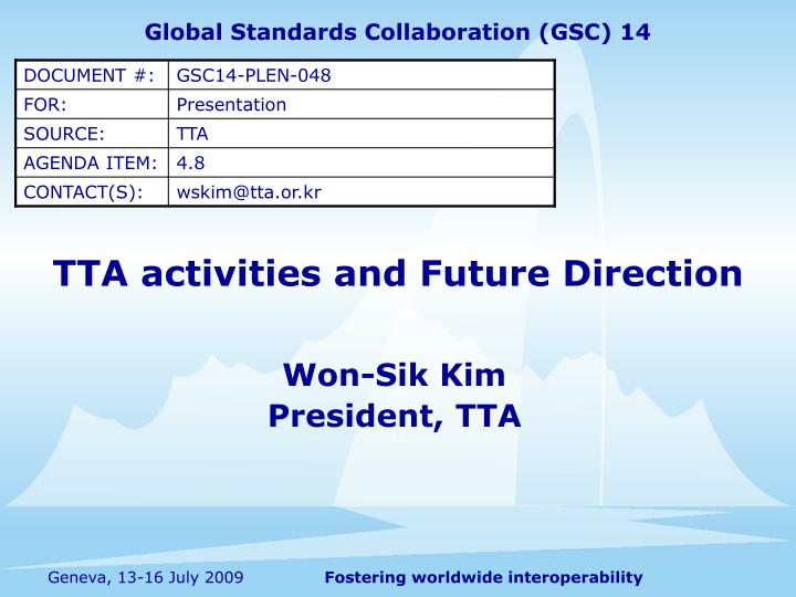 tta activities and future direction n.