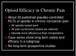 opioid efficacy in chronic pain
