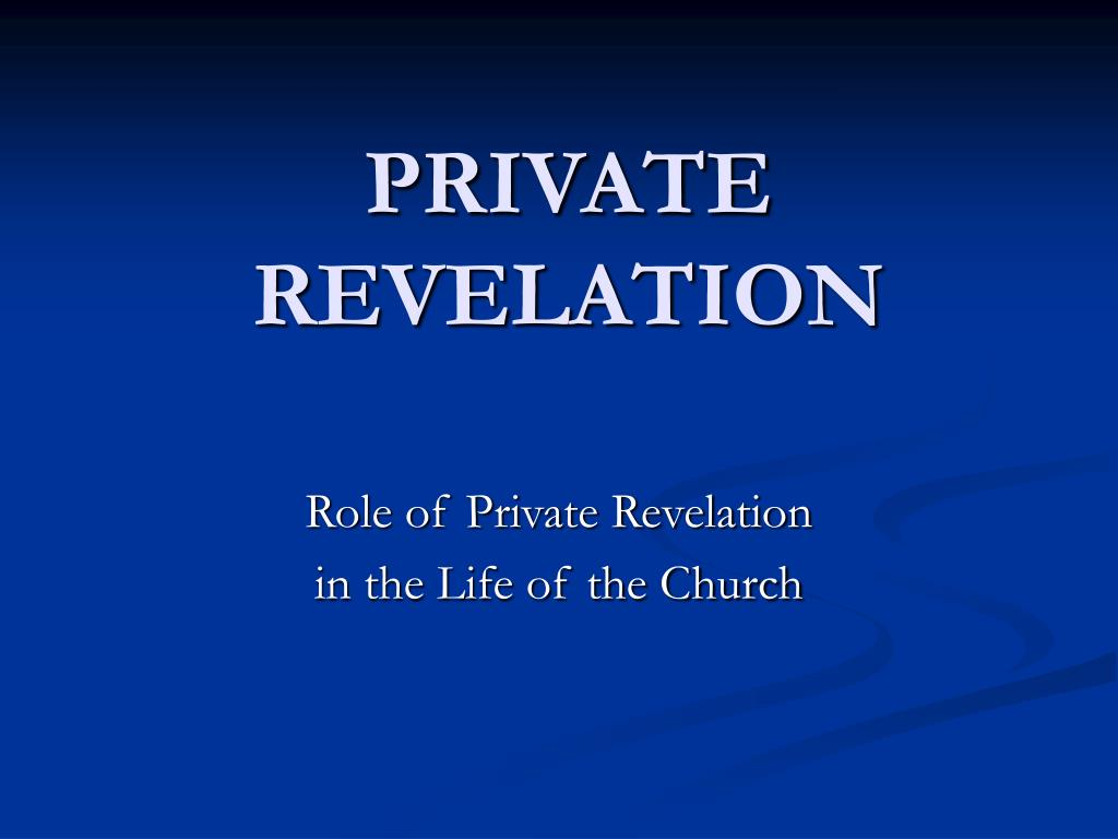 private revelation l.