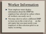 worker information