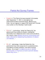 patriot act survey frames