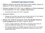 expenditure reductions