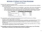 revised citizens election program per governor s bill 5021