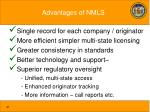 advantages of nmls
