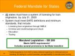 federal mandate for states