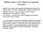 welfare state in uk history of localised provision