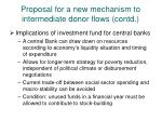 proposal for a new mechanism to intermediate donor flows contd1