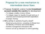 proposal for a new mechanism to intermediate donor flows
