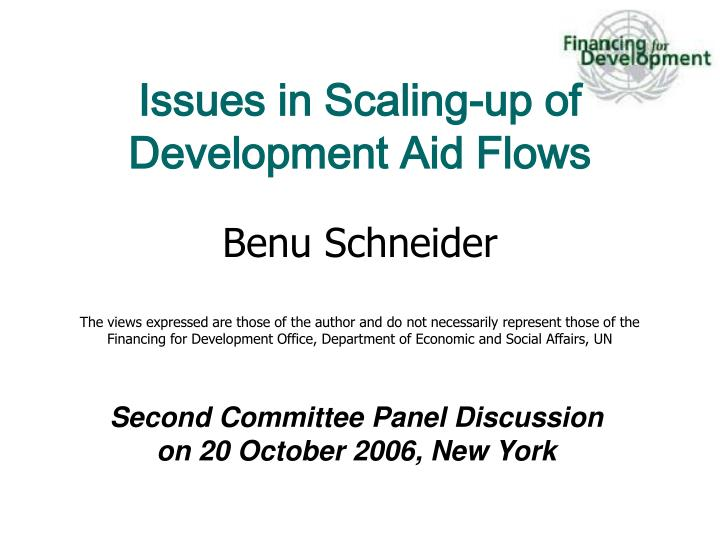 second committee panel discussion on 20 october 2006 new york n.