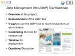 data management plan dmp tool roadmap