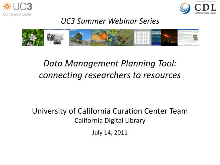 data management planning tool connecting researchers to resources n.