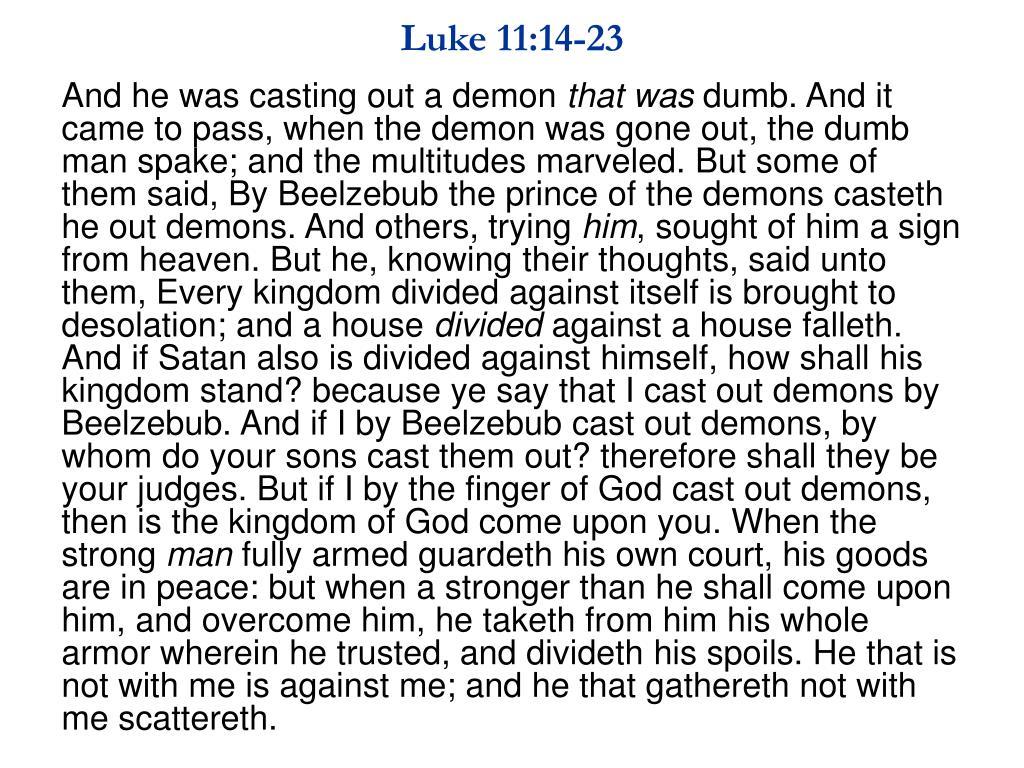 Luke 11:14-23