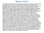 matthew 12 22 37