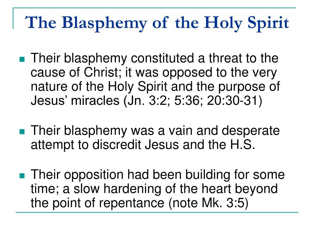 The Blasphemy of the Holy Spirit