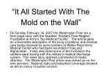 it all started with the mold on the wall