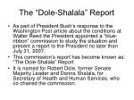 the dole shalala report