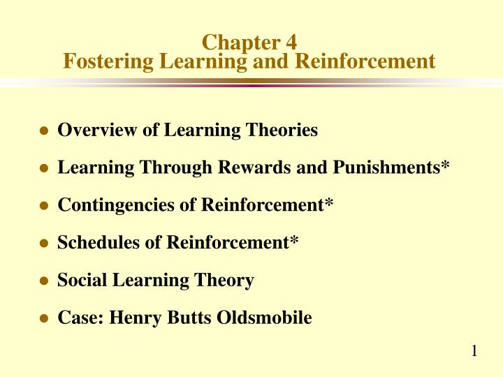 chapter 4 fostering learning and reinforcement n.