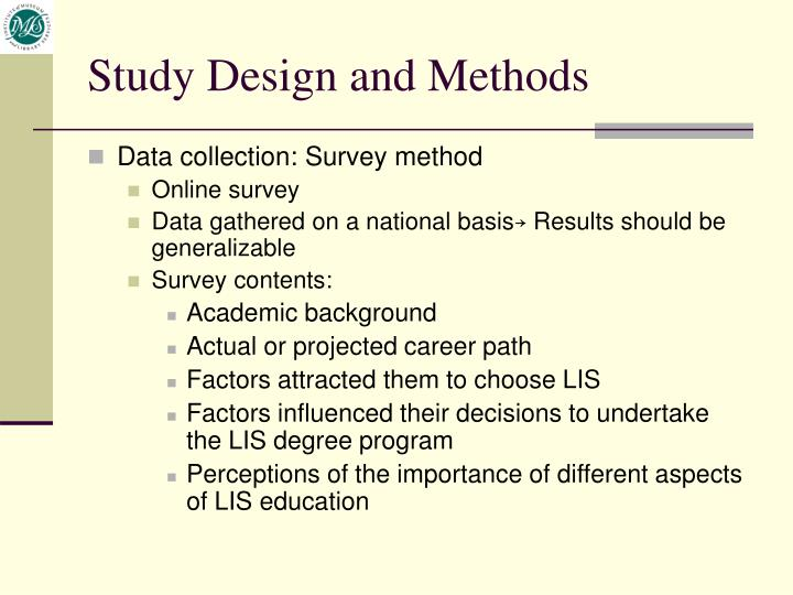 Study Design and Methods