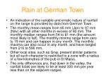 rain at german town