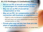 61 113 privileges limitations pic