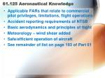 61 125 aeronautical knowledge