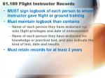 61 189 flight instructor records