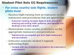 student pilot solo cc requirements