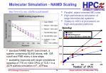 molecular simulation namd scaling
