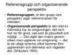 referensgrupp och organiserande perspektiv