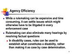 agency efficiency