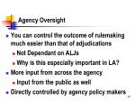 agency oversight