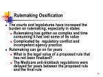 rulemaking ossification