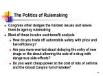 the politics of rulemaking