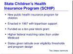 state children s health insurance program schip