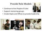 provide role models