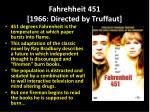 fahrehheit 451 1966 directed by truffaut