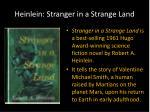 heinlein stranger in a strange land