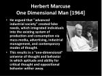 herbert marcuse one dimensional man 1964